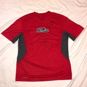 Nike Ole Miss Team Issued DriFit Training T-shirt